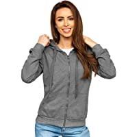 BOLF Femme Sweat-Shirt a Capuche Hoodie Sweat Manches Longues Temps Libre Sport Fitness Outdoor Basic Casual Style [A1A]