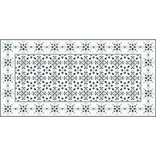 Flooralia - Alfombra Vinilica Extra Grande Clasica- 295X195cm- Gris-Blanco