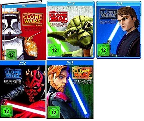 Blu-ray Set * Star Wars - The Clone Wars - Season/Staffel 1+2+3+4+5+6 (Wars 6 Clone Wars Star)