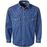 Pionier 922-3XL Jeans-Hemd Denim Größe 3XL in blau