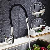 Auralum® Schwarz 360° Drehung Küchenarmatur Armatur Spültischarmatur für Kalt-warmwasser Küche...