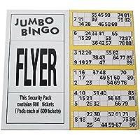 (Yellow) - Jumbo Bingo Tickets pads 6 to view (Yellow)