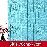 3D Wandpaneele Selbstklebend Steinoptik Tapete 77 x 70 cm Wasserfest Ziegelstein Wandtattoo PVC verdicht DIY Schaum Panel weiche Ziegel Anti-Kollision Wandaufkleber 5 Stuck