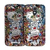 i-Paint 140510 Coque rigide + Autocollant + Film de Protection d'écran pour Samsung Galaxy S4 Motif Tattoo