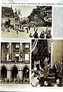 PRINCE 1951 DE BATEAU DE BRUXELLES DE PALAIS DE ROI BAUDOUIN BELGIQUE