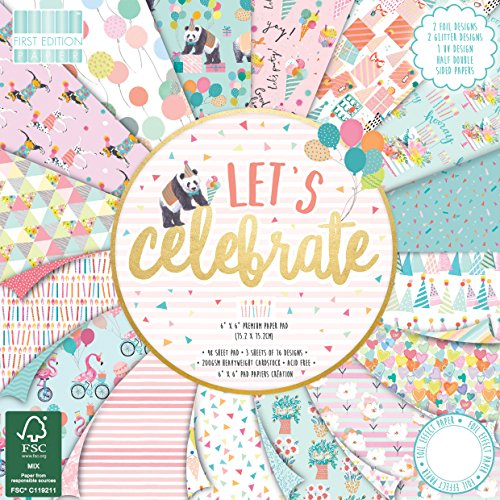 First Edition Lets Celebrate Premium Paper Pad 6