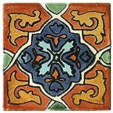 Fair Trade Keramik Fliesen 'Avila' - handbemalt - 10 x 10 cm - Fliese fairtrade
