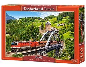 Castorland Train on The Bridge 500 pcs Puzzle - Rompecabezas (Puzzle Rompecabezas, Vehículos, Niños y Adultos, Niño/niña, 9 año(s), Interior)