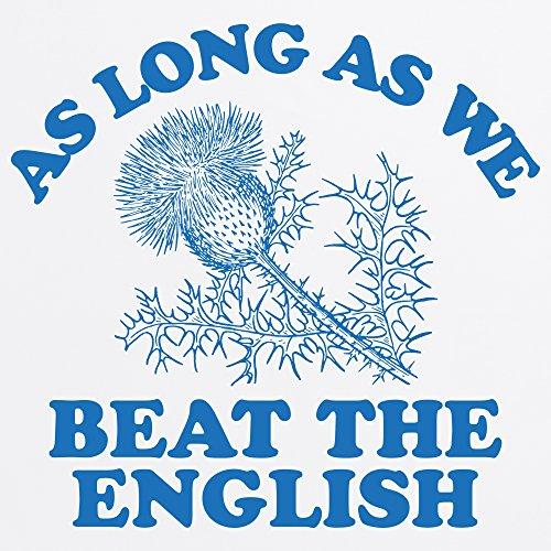 Scotland Beats England Rugby T-Shirt, Herren Wei