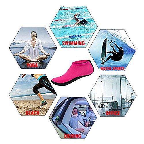Aquaschuhe Black Wassersportschuhe Surfschuhe Neoprenschuhe Badeschuhe Schwimmschuhe Unisex Strandschuhe Wasserschuhe pf8xPq0w