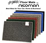 Nicoman Spaghetti Doormats|Easy-Clean & Dirt-Trapper Barrier Door Mat|Non-Shedding & Jet-Washable Outdoor Doormat|A Practical Alternative To Coir Door Mats (60x40cm,Black & Grey)