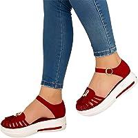 Snakell Sandales Femme Compensées Chaussure de Jardin Été Mary Janes Pas Cher Vintage Bride à la Cheville Chaussures…