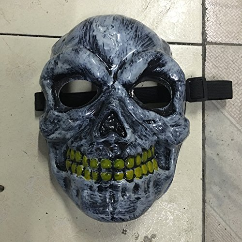 liMian Creative el helle Masken Schädel V Halloween DANCE GHOST terroristischen männlichen und weiblichen Erwachsenen universal Requisiten, gemeinsame Skelett Masken (leuchtet (Masken Männliche)