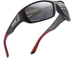 PUKCLAR Gafas de Sol Hombre Polarizadas, Deportivas, para Ciclismo, para Mujer, Protecci¨®n UV400, Cat 3 CE C1 Marco Negro /