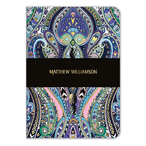 Museums & Galleries GAN623 Matthew Williamson Notizbuch, A5, Paisleymuster, Violett