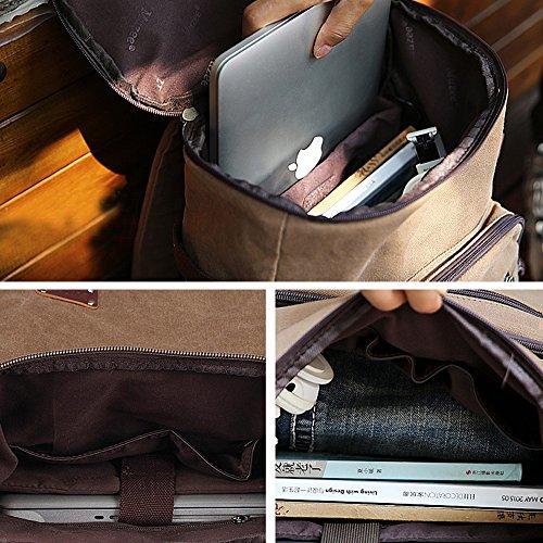 Imagen de eshow bolso de  multifuncional de tela de lona para hombres  de senderismo caffé  alternativa