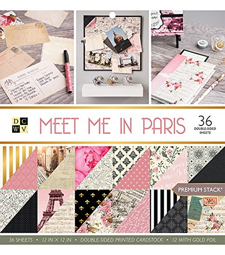 A View Meet Me in Paris Stack, Papier, mehrfarbig, 31.8x 30,5x 1cm (Paris-papier)