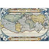 meishe Art Poster Print Vintage Nautischen Weltkarte Antik Atlas Diagramm Retro Büro Geschichte Home Wand-Decor