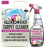 Mylek Spring Bloom 5 Litres + 750ml Carpet & Upholstery Shampoo Professional High Extraction Concentrate (Works With All Machines)