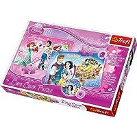 Trefl, Disney Princess - Ariel & Cinderella, 50 Pieces Color Lumi ( changing colors) Jigsaw - Puzzle