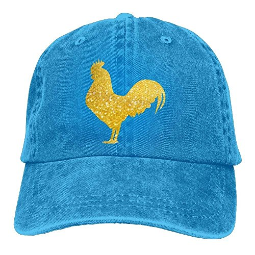 Tan Gold Flare (ASKYE Gold Chicken Unisex Adjustable Cowboy Baseball Caps DadHatTrucker Hat)