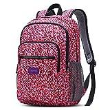 [Schulrucksack] FREETOO Rucksack Schick Backpack für Damen und Mädchen praktische Schultasche mit Laptopfach 34 Liters