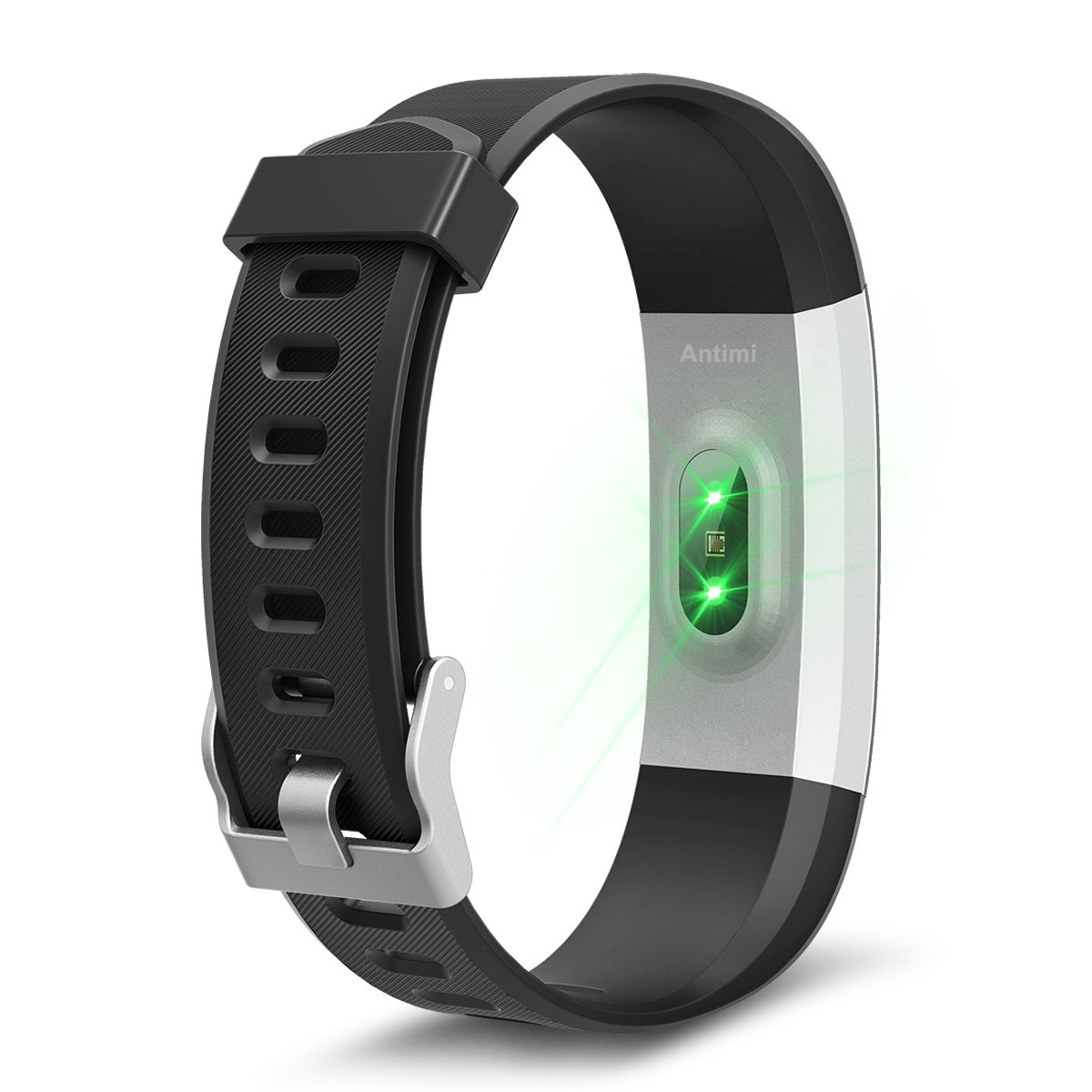 Antimi Fitness Tracker Heart Rate Monitor Activity Tracker Smart Bracelet Bluetooth Pedometer Smartwatch For IPhone X 8 8 Plus Samsung S8 And Other Android Or IOS SmartphonesBlack