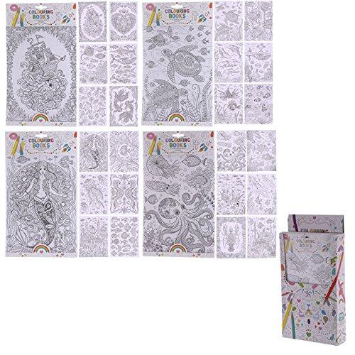 36x Fun Seaside Design für Erwachsene und Kinder Malbücher (6Seiten)–Pack Höhe 36,5cm Breite 21,5cm Tiefe 0,2cm Seite 30x21.5cm (Kinder-gießkanne Krug)