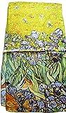 Nella-Mode künstlerischer SEIDENSCHAL Seidentuch Kunstdruck nach van GOGH
