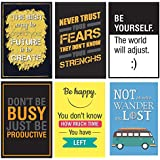 Combo Pack Of 6 Motivational Quote Wall Poster Quotes & Motivation,(12X18) By Vprint