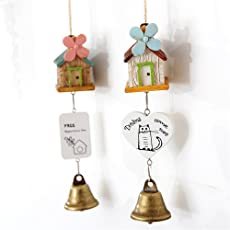 Fancyku Wind Chime Random Color House Decor Resin with Bells Hanging Door Decoration Windchime
