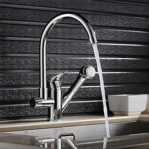 Auralum® Classic Design Estraibile Miscelatore Rubinetto Della