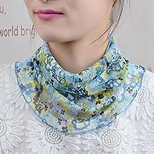 YRXDD Seda collar de cuello de la crema protector solar pequeña primavera bufanda y el otoño de la sección delgada de los niños de cuello falso salvaje (300 * 270cm),vacío orquídeas valle