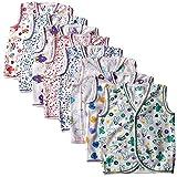 #10: LAVI-TAVI Baby Boy's and Baby Girl's Cotton Jhabla (CJB, Multicolour, 3-6 Months) - Pack of 8