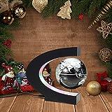 Globus Beleuchtet, MECO 8 cm Schwebender Gobus Magnetische Kugeln interaktiver globus für kinder Weihnachtsgeschenke, Business-Geschenke, Geburtstag Geschenke, Wohnkultur Büro Dekoration - Schwarz