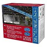 Konstsmide 3723-500 LED Lichternetz/für Außen (IP44) / Batteriebetrieben: 4xAA 1.5V (exkl.) / mit Lichtsensor, 6h und 9h Timer / 40 bunten Dioden/schwarzes Kabel