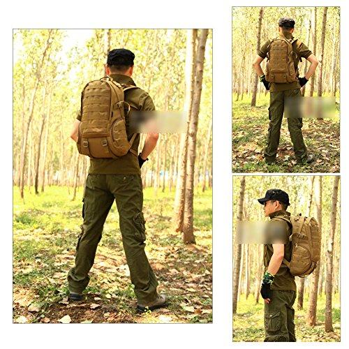 YAAGLE 35 L wasserdicht Rucksack Reisetasche Gepäck militärisch outdoor Schultertasche Schüler Schultasche Sporttasche-Tarnung 4