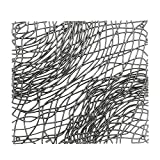 Koziol Raumteiler/Dekoelement Silk, Kunststoff, transparent anthrazit, 27.1 x 27.1 cm