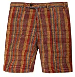 Gant by Michael Bastian Herren Shorts Bordeaux/Braun The MB Printed Madras Shorts 21993-212, Weite:W32