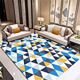CHAI Wohnzimmer Dekorative Teppich Bodenmatte Europäischen Einfachen Stil 3D Druck Rechteckigen Teppich Geometrische Muster Schlafzimmer Rutschfeste Teppich Kinderteppich Teppich Teppiche