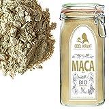 EDEL KRAUT | BIO GELBES MACA PULVER Premium Superfood 100% MACAWURZEL GELB IM GLAS 750g