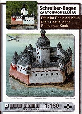 Aue-Verlag Modellbausatz Burg Pfalzgrafenstein, 30x 14x 25cm von Aue-Verlag