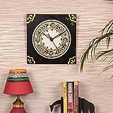 Kalaplanet Wooden Wall Clock - Madhubani