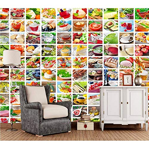Xzfddn KundenspezifischesDiagramm Des Lebensmittels3DWandgemälde Für Restaurantküchenhotelhintergrundhintergrunddekortapete-450X300Cm (Architektur-diagrammen)