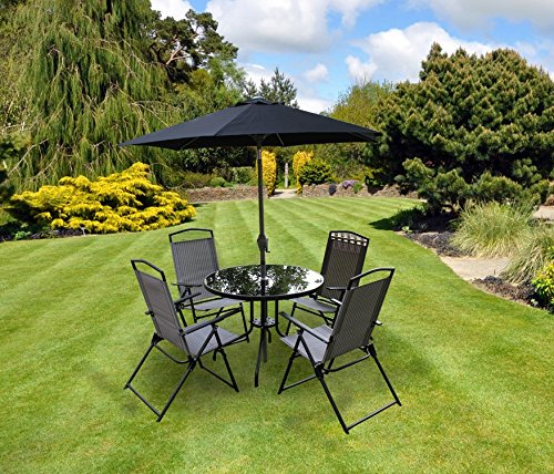 kingfisher-6-piece-grey-padded-chairs-x4-glass-table-parasol-garden-patio-furniture-set