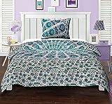 Twin Cotton Indisch Mandala Bettbezug Bettwäsche Set Gedruckt Pfau Auge Floral Green Duvet Cover Von Stylo Kultur