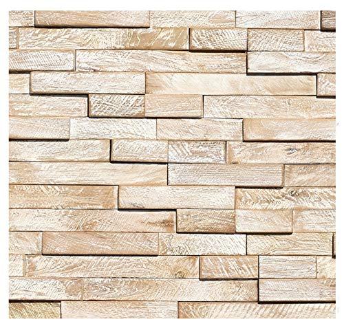 HO-M-012-1 Muster Teak-Holz Mosaikfliesen Wand-Verblender Fliesen Lager Verkauf Stein-Mosaik Herne NRW