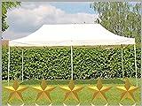 Faltzelt Faltpavillon 3x6m 6x3m beige Partyzelt Pavillon Verkaufszelt wasserdicht
