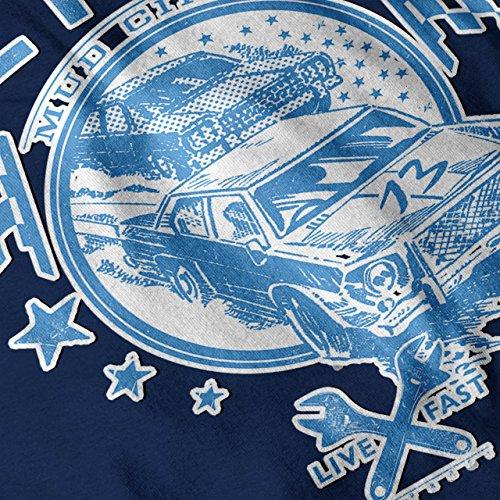 Detroit Schlamm Schaltung Nascar Damen Schwarz S-2XL Muskelshirt   Wellcoda Marine