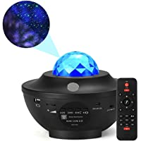 Galaxy 360 Pro Projector - Music Starry Water Wave LED Projector Light with 21 Lighting Modes,with Built-in Music…